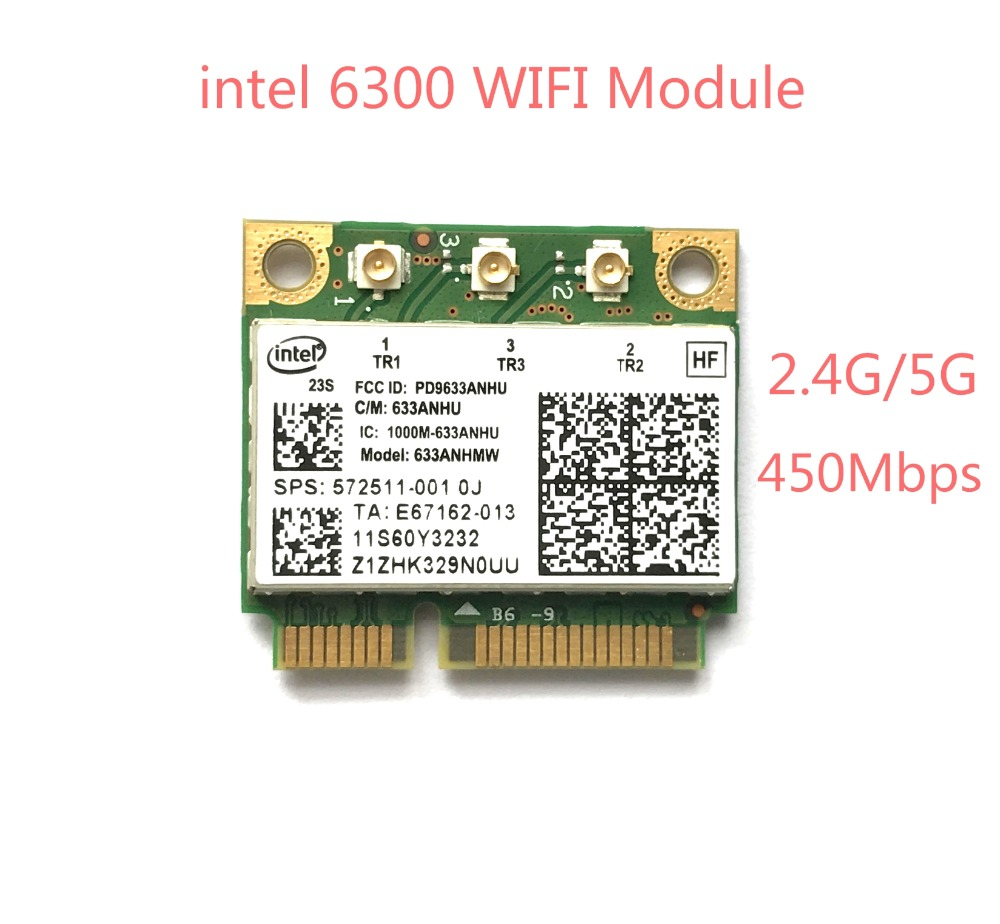 Yeni wlan dual band kablosuz wifi mini pci-e kart ibm için intel 6300 agn fru: 60y3233 thinkpad t430 x230 x220 t410 t420 x201