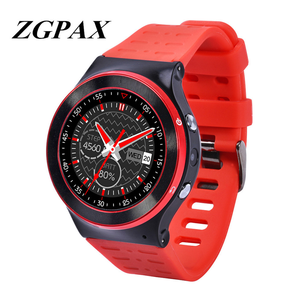 Orijinal zgpax s99 gsm 3g quad core android 5.1 smart watch 5.0 MP Kamera ile GPS WiFi Bluetooth V4.0 Pedometre Kalp Hızı