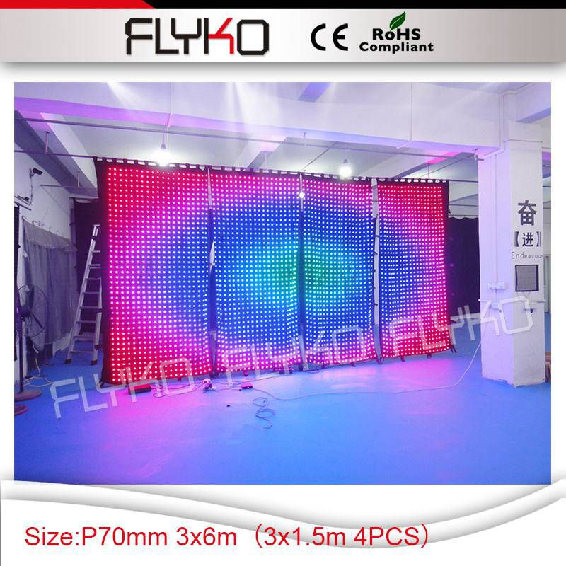 night club lights party supply P7 led curtain display programmable 3x6m