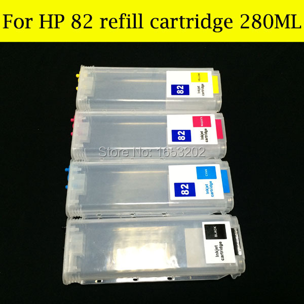 Free Shipping !! Refillable For HP 82 Inkjet Cartridge For HP82 With ARC Chip Use For HP Designjet 510