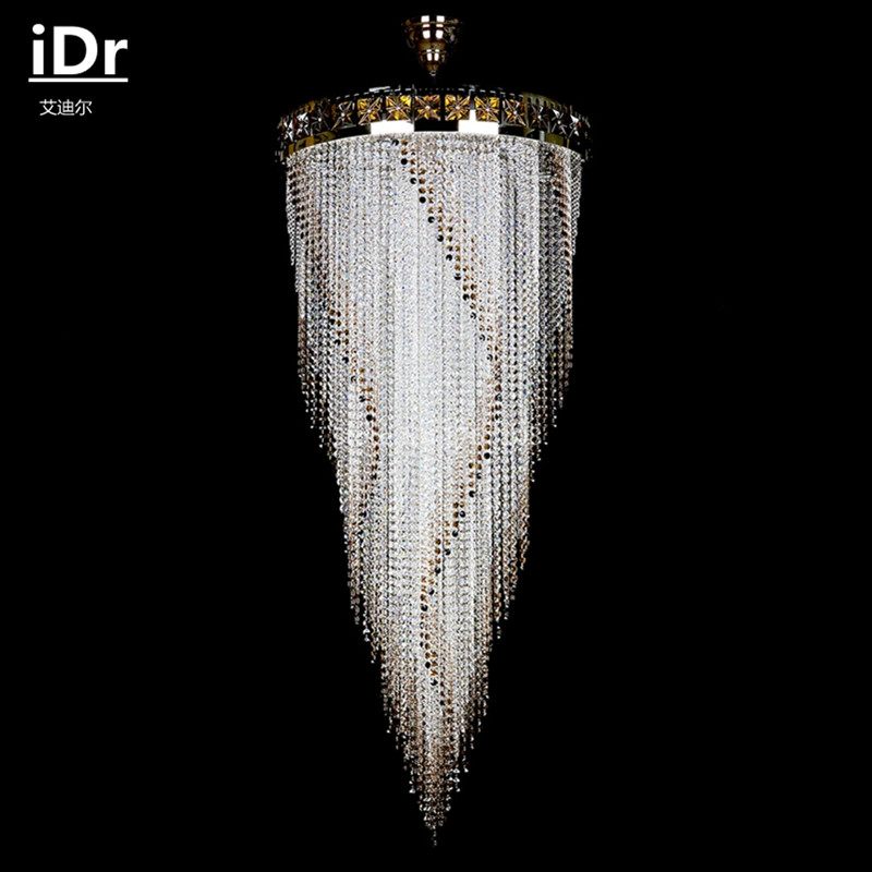Romantic pastoral European luxury living room hotel 12 handmade crystal chandelier iDr-0041