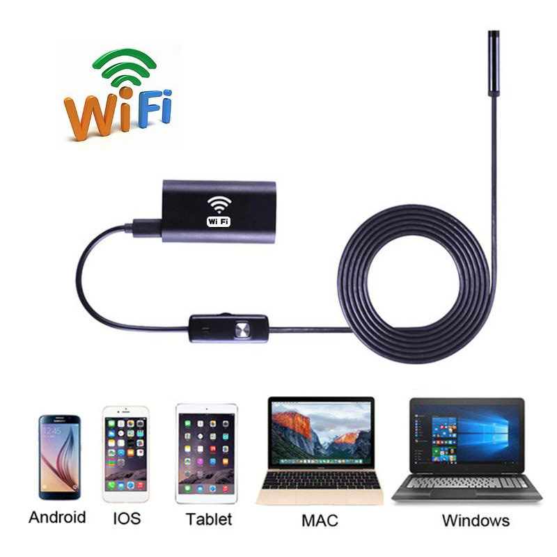 720 P HD Mini Kamera 1/1. 5/2/3.5/5/10 m 8mm Lens Wifi Kablosuz Endoskop 1MP Borescope Muayene Kamera iPhone iOS Android