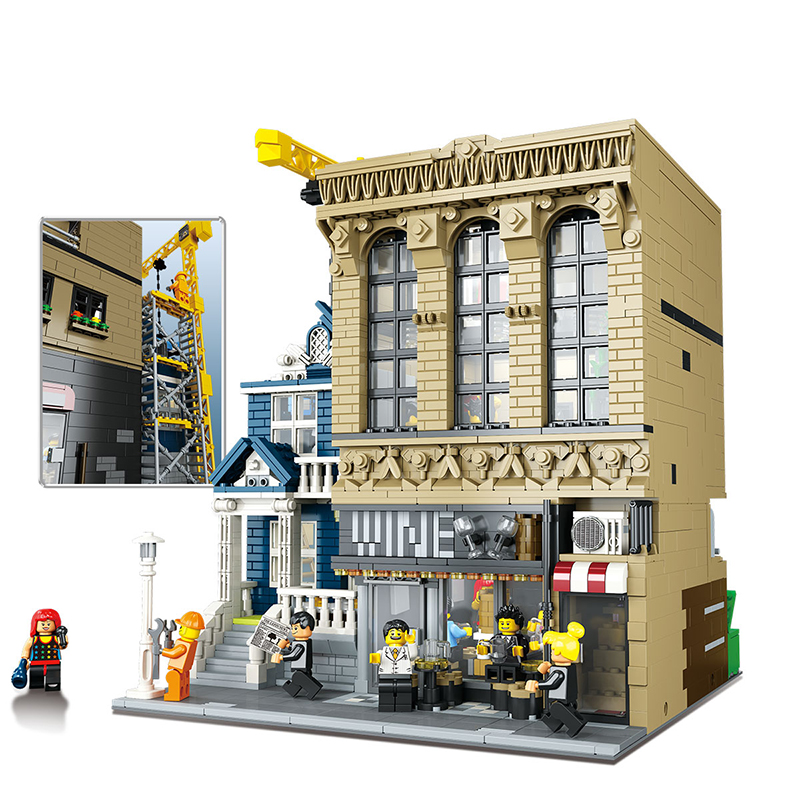 Lepin 15035 2841Pcs Genuine Streetsight MOC Series and Financial Companies Set LEGONEly Building Blocks Bricks Educational Toys
