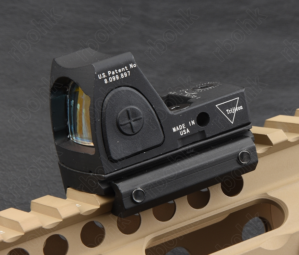Mini RMR 1x Red Dot Sight kapsam Kolimatör Glock/Shotgun Refleks Sight Kapsam fit 20mm picatinny weaver rail dağı M9897
