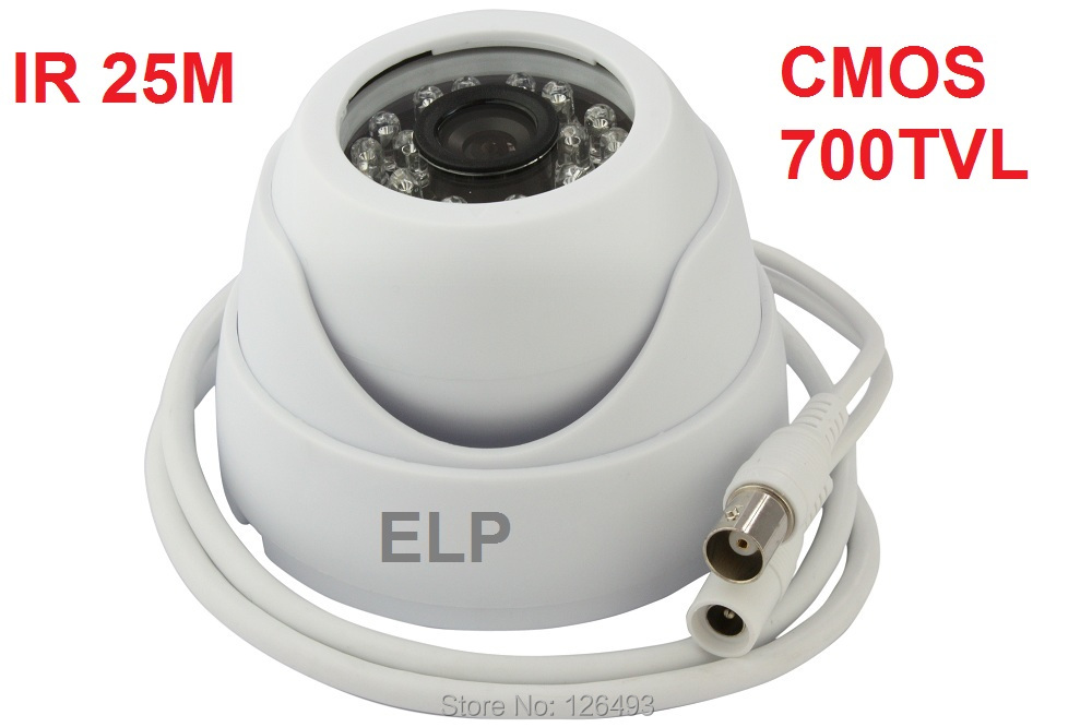 CCTV 1/3 cmos 700TVL mini kapalı dome video kamera