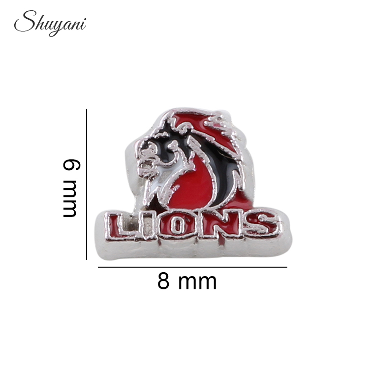 10*8mm DIY Aksesuarları Lions Yüzer Locket Için Charms Yüzer Locket